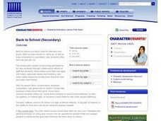 Back to School (Secondary) Lesson Plan