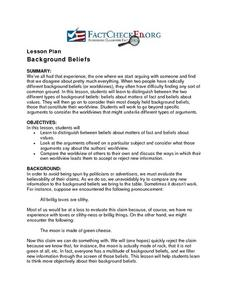 Background Beliefs Lesson Plan