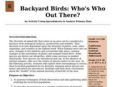 Backyard Birds: Who's Who Out There? Lesson Plan