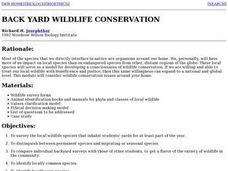 Backyard Wildlife Conservation Lesson Plan