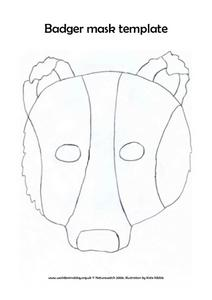 Badger Mask Template Lesson Plan