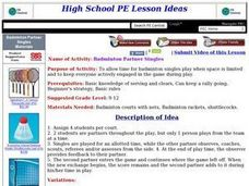 Badminton Partner Singles Lesson Plan