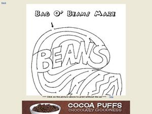 Bag O' Beans Maze Worksheet