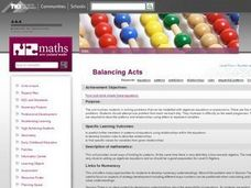 Balancing Acts Lesson Plan
