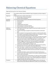 Balancing Chemical Equations Lesson Plan