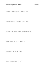Collection Redox Reaction Worksheet Photos - Studioxcess