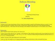 Balloon Blending Lesson Plan
