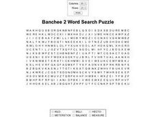 Banchee 2 Word Search Puzzle Worksheet