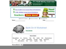 Bank On It / Hanukkah Worksheet