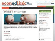 Banking is INTEREST-ing! Lesson Plan