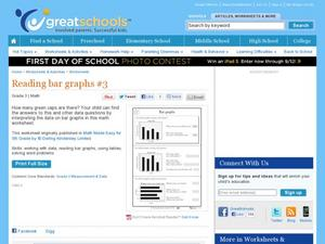 Bar Graphs Worksheet