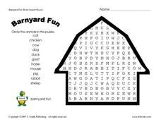 Barnyard Fun Worksheet