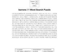 Barrons 1 Word Search Worksheet
