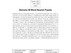 Barrons M Word Search Puzzle Worksheet