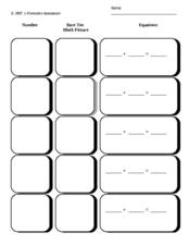 Base Ten Formative Assessment K.NBT.1 Kindergarten