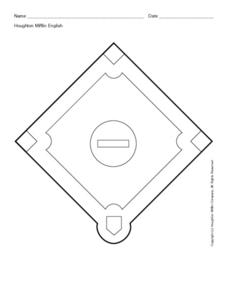 Baseball Diamond Shape Worksheet