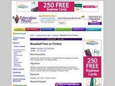 Baseball: Fact or Fiction Lesson Plan
