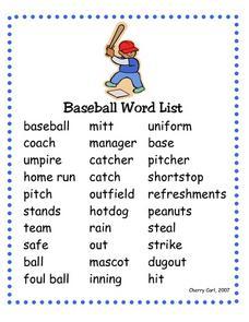 math worksheet : baseball word list 1st  2nd grade worksheet  lesson pla  : Baseball Math Worksheets