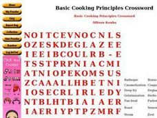 Basic Cooking Principles Worksheet