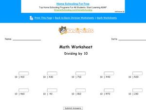 Basic Division Part 2 Worksheet