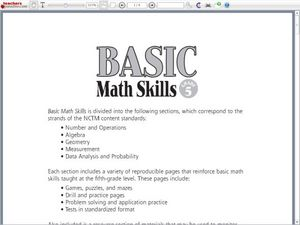 math worksheet : 6th grade basic math skills worksheet  educational math activities : Math Skills Worksheet