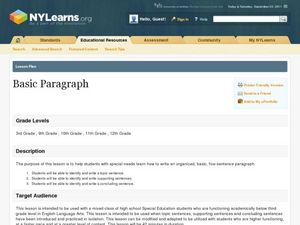 Basic Paragraph Lesson Plan