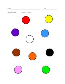Basic Skills: Colors Worksheet