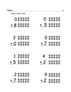 Basic Skills: Dot Addition 4 Worksheet