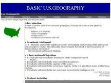 Basic U.S. Geography Lesson Plan