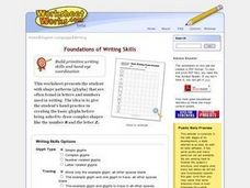 Basic Writing Forms Practice Worksheet