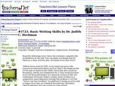 Basic Writing Skills Lesson Plan