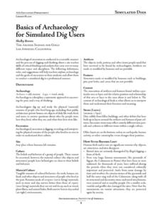 Basics of Archaeology Lesson Plan