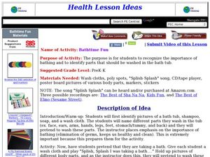 Bathtime Fun Lesson Plan