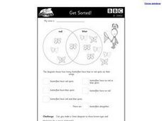 BBC Get Sorted-  Venn Diagram Activity Worksheet