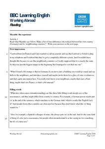 BBC Learning English, Reading (Maralde) Worksheet