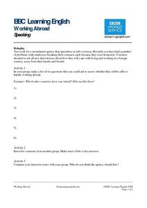 BBC Learning English, Speaking (Roleplay) Worksheet