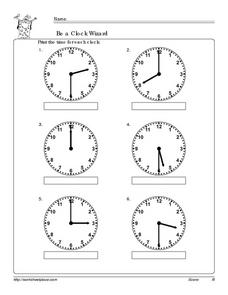 Be a Clock Wizard 3 Worksheet