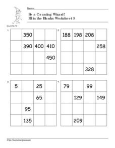 Be a Counting Wizard! #3 Worksheet