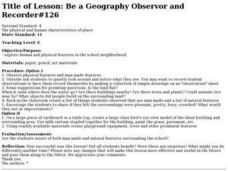Be a Geography Observor and Recorder Lesson Plan