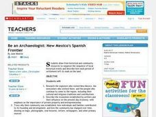 Be an Archaeologist: New Mexico's Spanish Frontier Lesson Plan
