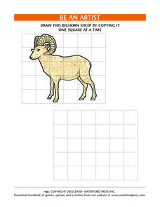 Be an Artist: Bighorn Sheep Lesson Plan