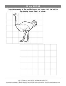 Be an Artist: Ostrich Lesson Plan