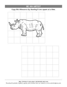 Be an Artist: Rhinoceros Lesson Plan