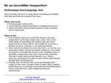 Be An Incredible Songwriter Lesson Plan