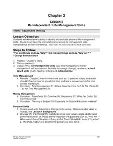 Printables Life Management Skills Worksheets be independent life management skills 9th 12th grade worksheet worksheet