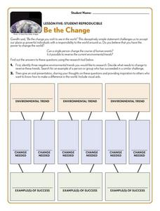 Be the Change Worksheet