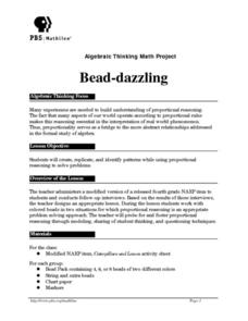Bead-dazzling Lesson Plan