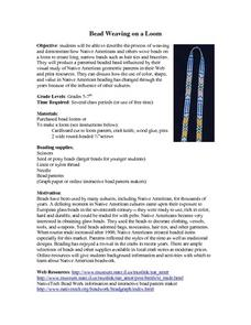 Bead Weaving on a Loom Lesson Plan