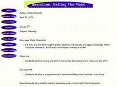 Bearstone: Setting the Mood Lesson Plan