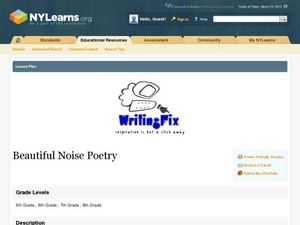 Beautiful Noise Poetry Lesson Plan
